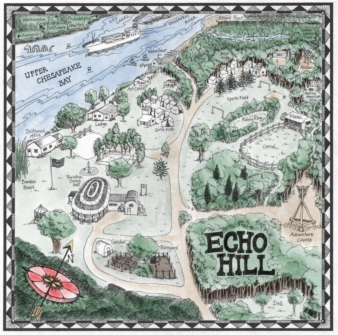 Map of Echo Hill Camp